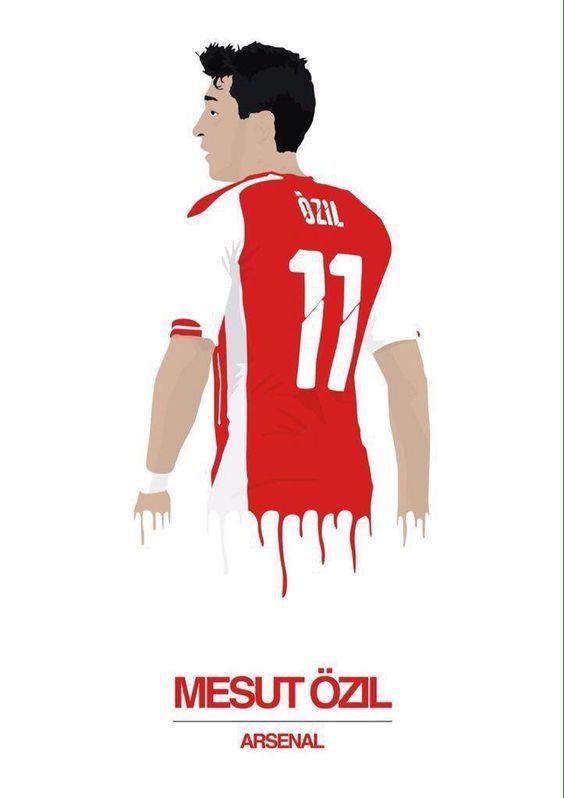 Arsenal Tattoos Of Arsenal Players Mesut Ozil